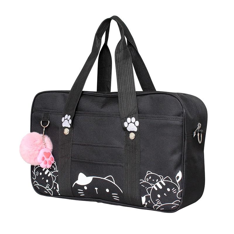 Anese Style Jk Uniform Cosplay Handbag Women Fashion Kawaii Cat Crossbody Bag Anime School Shoulder Travel Messenger In Top Handle Bags From