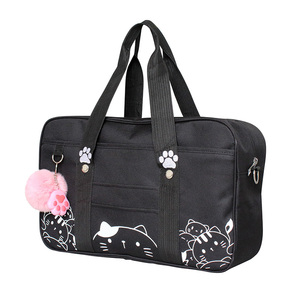 Image 4 - Styl japoński jk jednolity Cosplay torebka kobiety moda Kawaii kot Crossbody torba Anime szkolna torba na ramię podróżna torba kurierska