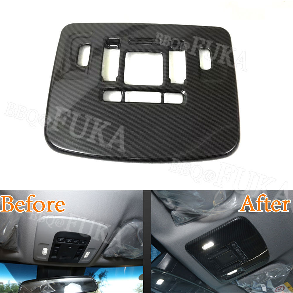 Carbon Fiber Color Car Interior Roof Reading Light Cover Trim Decal Stickers Fit for Toyota Camry 2018 Car Styling Accessories