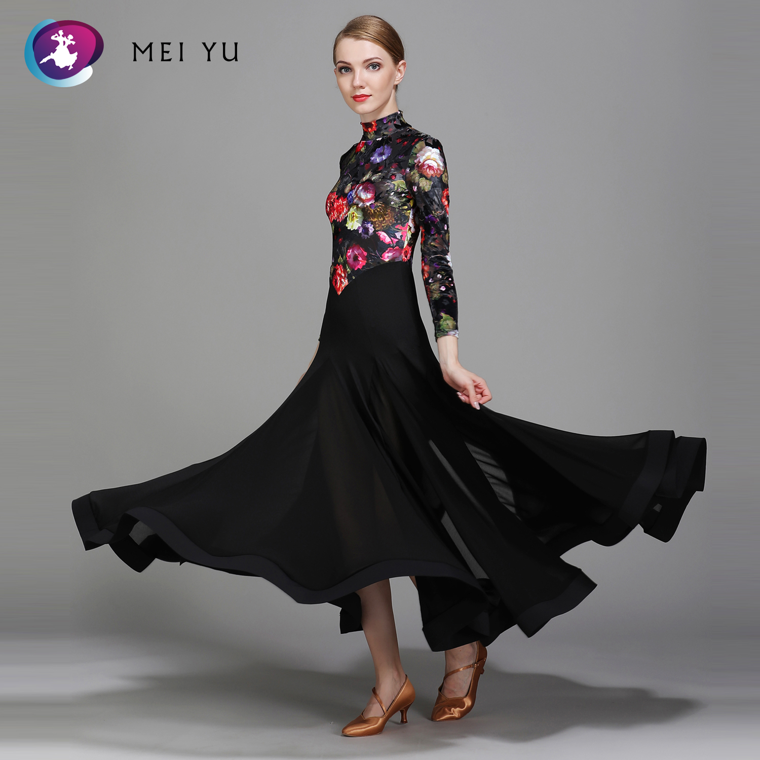 Ballroom Selfless Mei Yu 1731 Modern Dance Costume Women Ladies Adult Dancewear Waltzing Tango Dancing Dress Ballroom Costume Evening Party Dress