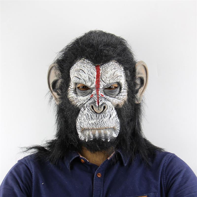 Маска для Хэллоуина Смешные орангутанг глава Новинка маска Хеллоуин костюм Маскарад Маска Голова маска - 4