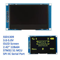 2 42 12864 Lcd Oled Display Module Yellow Color SPI IIC I2C Serial For STM32 CD51