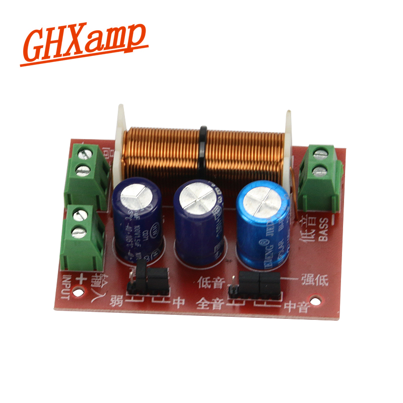GHXAMP Upgraded Debugged Speaker 2 Way Crossover Audio Adjustment Tweeter Bass Speakers Filter Frequency Divider 400W 2PCS