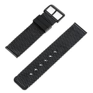 Image 4 - Bracelet de montre en acier inoxydable 20mm 22mm 24mm pour citoyen boucle ardillon sangle lien poignet ceinture Bracelet noir argent + barre de ressort + outil