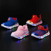 7837862ba Sycatree 2019 новый свет мягкий детская обувь для мальчиков и девочек  Повседневное спортивная обувь Caterpillar дышащие