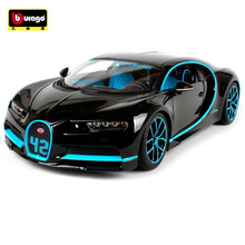 цена на Bburago 1:18 2017 Bugatti Chiron 42 Seconds Sports Car Diecast Model Car Toy New In Box Free Shipping New Color NEW ARRIVAL11040