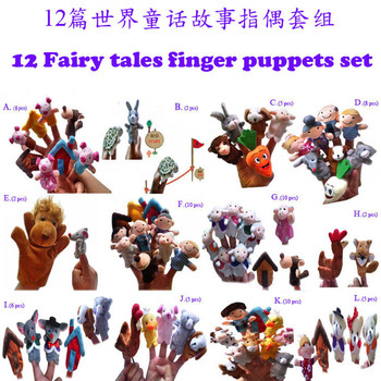 Educational toys for babies finger puppets12set /lot Fairy tale set in the world baby wrist toy