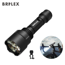 BRILEX Tactical Flashlight LED Torches Handheld Black Waterproof Flashlights 5 Lighting Modes with Bicycle Holder.