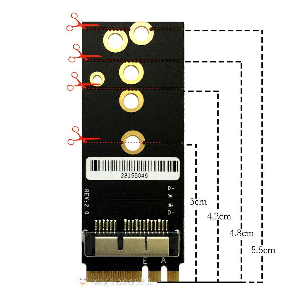 M.2 HUYUN BCM94360CS2 BCM943224PCIEBT2 BCM94331CD BCM94360CD Module Card to NGFF