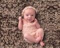 Conchas y Perlas de Encaje Mohair del ganchillo Bebé Recién Nacido Mameluco con Tie Back Diadema Apoyo de la Foto, cinta de cabeza, pantalones