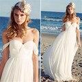 Мечтательный 2016 новый сексуальный милая белый кот шифон - линии свадебное платье vestidos noiva свадебные платья свадебные платья для невесты