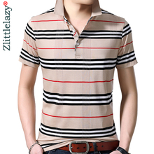 2019 brand casual summer striped short sleeve polo shirt men poloshirt jersey luxury mens polos tee shirts dress fashions 42225