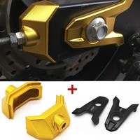 for Z 800 CNC Aluminum Rear Axle Spindle Chain Adjuster Blocks For Kawasaki Z800 Motorcycle Rear Fork Chain Adjuster Code
