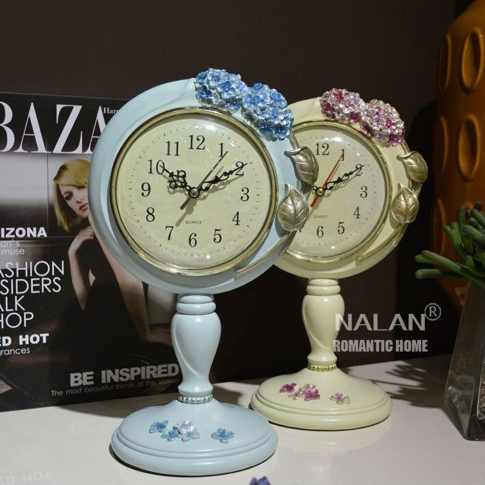 Livraison gratuite paquet original horloge à quartz fleur bureau horloge parfait cadeau horloge résine matériel 1 pcs/lot