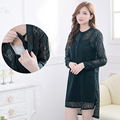 Maternity Nursing Dress Pure cotton Lace  Breastfeeding Clothes Spring and Autumn  Nursing Dress