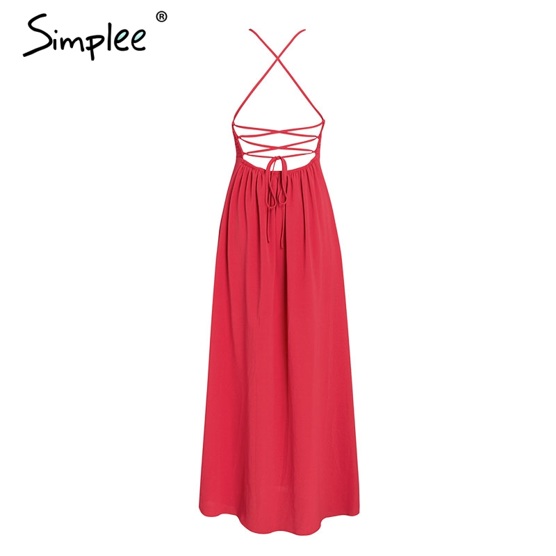 CUERLY Sexy lace boho chiffon women dress Mesh spaghetti strap backless print summer dresses Casual split holiday long vestidos in Dresses from Women 39 s Clothing