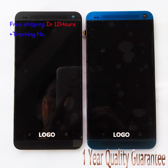Test ok 100 Original For HTC ONE M7 801e 801 801n Single Card LCD display Touch