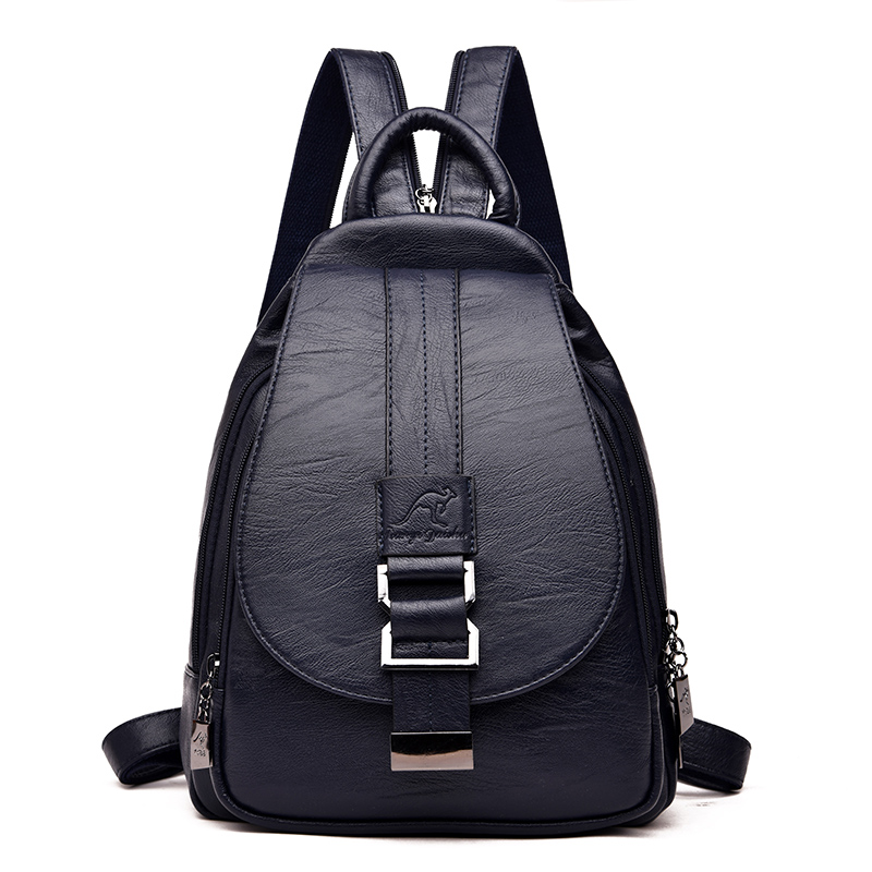 Women Backpack Multi-Function Female Backpack Casual School Bag For Teenager Girls High Quality Leather Shoulder Bag For Lady