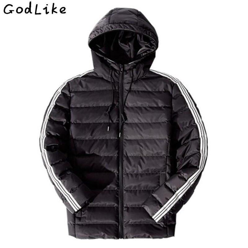 Стеганая куртка модная куртка Для мужчин с капюшоном зима теплая хлопковая куртка Для мужчин мужской куртка легкие пальто Для мужчин модно...