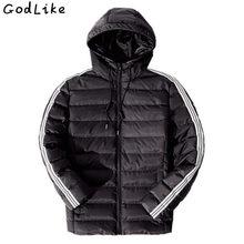 Quilted Jacket Fashion Jacket Men Hooded Winter Warm Cotton Jacket Men Male Parka Lightweight Coat Men Fashion Coat Earphone