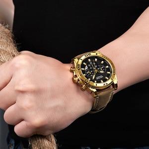 Image 5 - MEGIR 남자 시계 패션 스포츠 아날로그 쿼츠 시계 남자 브랜드 럭셔리 방수 시계 시간 Relogio Masculino Relojes 2020
