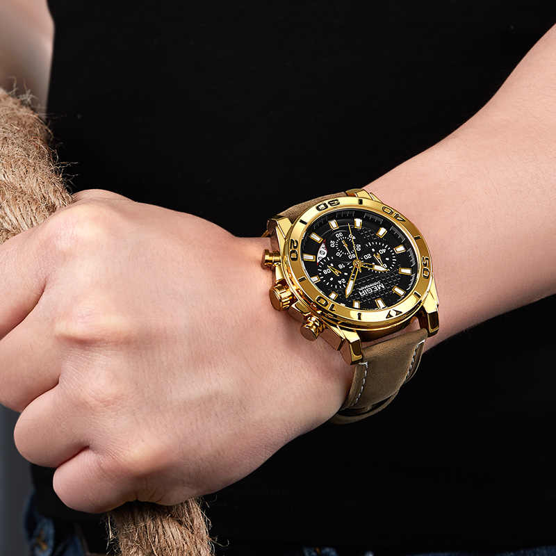 Relojes MEGIR para hombre, reloj de cuarzo analógico deportivo de moda, reloj de lujo a prueba de agua de marca para hombre, reloj de Hora, reloj Masculino, Relojes 2019.
