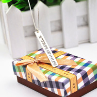 925 Sterling Silver Vertical Bar Necklace Stamp Latitude Longitude Custom Coordinate Pendent In Memory Jewelry
