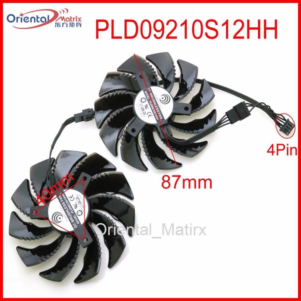 PLD09210S12HH 12 V 0.40A 87mm para gigabyte RX480 RX570 GTX1070 GTX1060 GTX1050 GTX1050TI empujes tarjeta gráfica ventilador de refrigeración