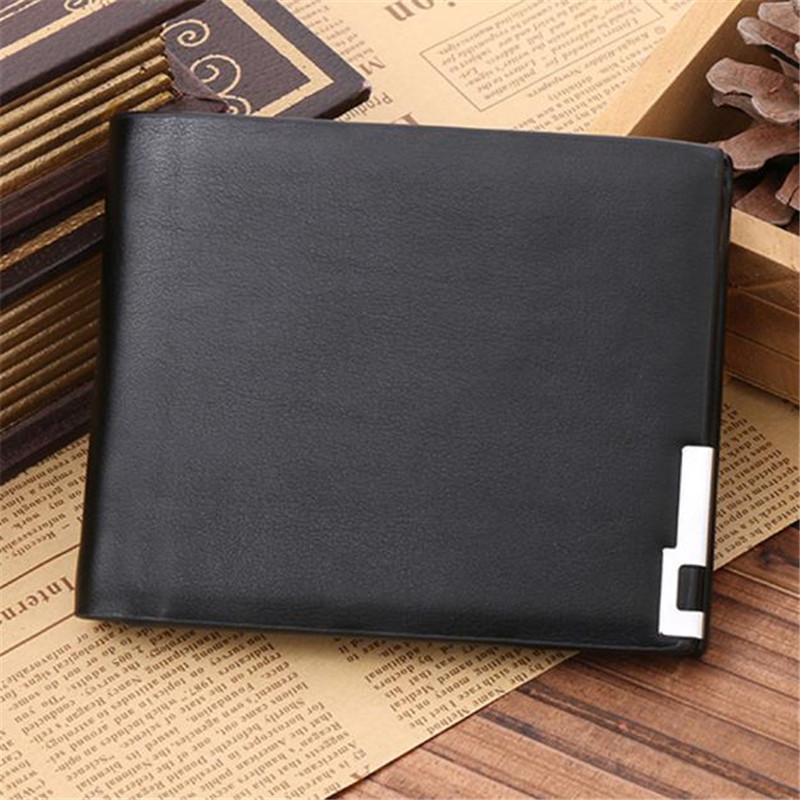 Newcoin purse Luxury Fashion Mens Wallet Ultra-thin Men Leather Card Cash Receipt Holder Organizer Bifold Wallet Purse Gift ...