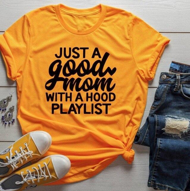 Chỉ cần một Tốt Mẹ với Mui Xe Danh Sách Nhạc t-shirt mẹ món quà ngày vui khẩu hiệu grunge thẩm mỹ phụ nữ thời trang áo sơ mi tee cổ điển nghệ thuật hàng đầu