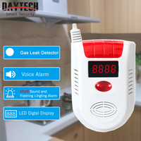 DAYTECH LPG Fired GAS Detector Alarm LED Display LPG LNG Gas Leak Sensor For Home Security