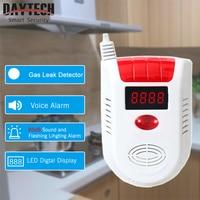 DAYTECH LPG Fired GAS Detector Alarm LED Display LPG LNG Gas Leak Sensor For Home Security