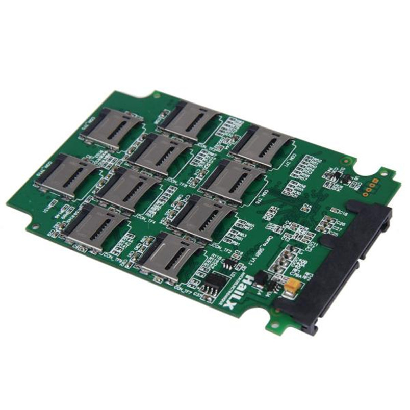 D3 New 10 x Micro SD TF Memory Card to SATA SSD Adapter + RAID Quad 2.5