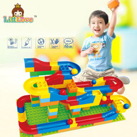 DIY Assembly Construction Marble Race Run Maze Gaming Balls Track Building Blocks Kid S Toys Blocks