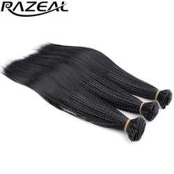 """Razeal 3 шт. мелкие косы вьющиеся крючком расширений Волосы 280 нити 14 """"Micro нота плетение прически высокое Температура Волокно"""