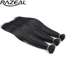 """Razeal 3 S мелкие косы вьющиеся крючком расширений Волосы 280 корни 14 """"микро нота плетение прически высокое Температура Волокна"""