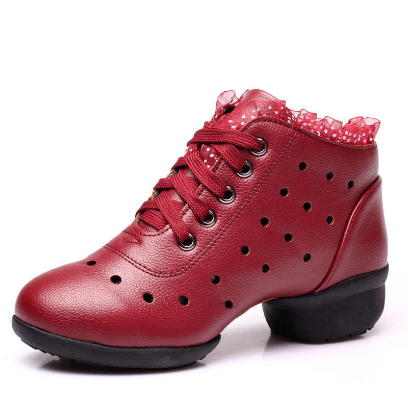 2019 verano primavera zapatos de baile blancos Mujer Fitness transpirable Jazz Hip Hop zapatos Salsa zapatillas para mujer encaje lateral señora zapato