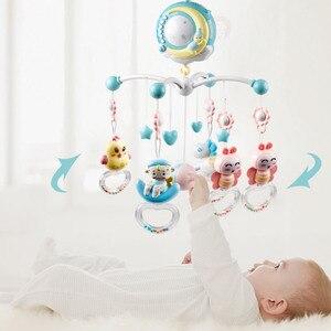 Image 2 - Baby Crib Mobiles Rammelaars Speelgoed Bed Bel Carrousel Voor Babybedjes Projectie Zuigeling Educatief Speelgoed 0 12 Maanden Voor Pasgeborenen
