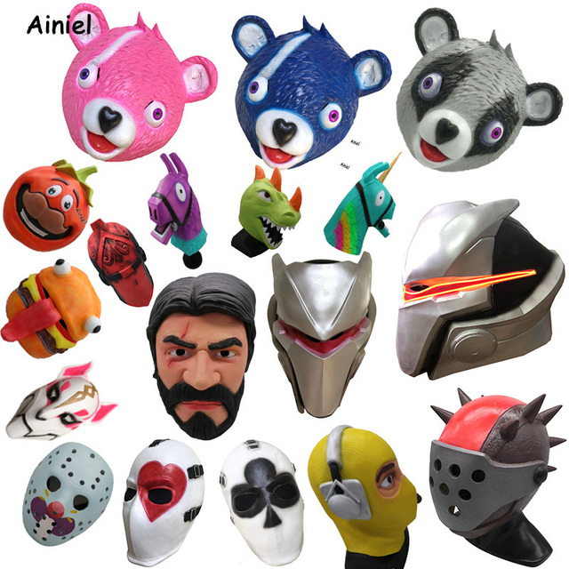 US $13 42 21% OFF|Game Fortnight Cosplay Costume Mask Omega Oblivion Link  Skull Full Face Set Helmet Halloween Latex Mask Props for Kids Adult Men-in