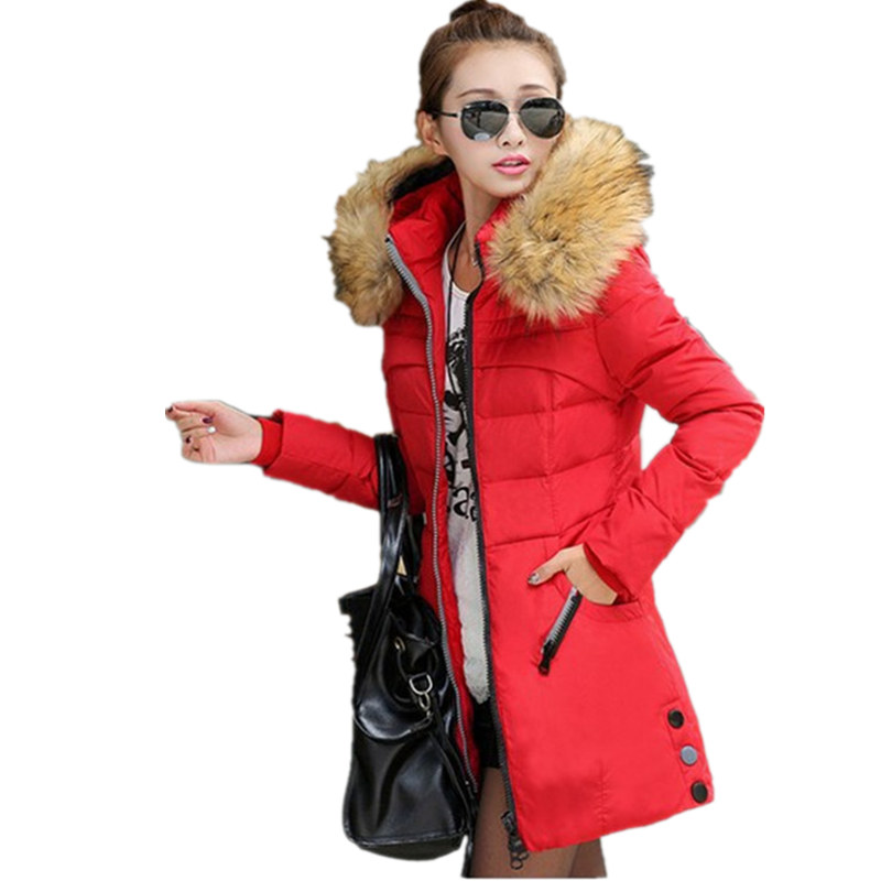 Winter Fashion Women Fake Fur Hooded Long Parkas Plus Size Fit Jacket Female Wadded Cotton Coat Jaqueta Feminina Inverno MZ1677 jaqueta feminina inverno new autumn winter women jacket cotton padded casual slim coat emboridery hooded parkas plus size 3xl