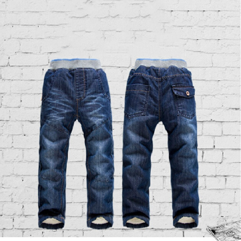 2017 High quality KK-RABBIT Winter Thick Fashion Boys Pants Kids Trousers Girls Baby Children Jeans CP137