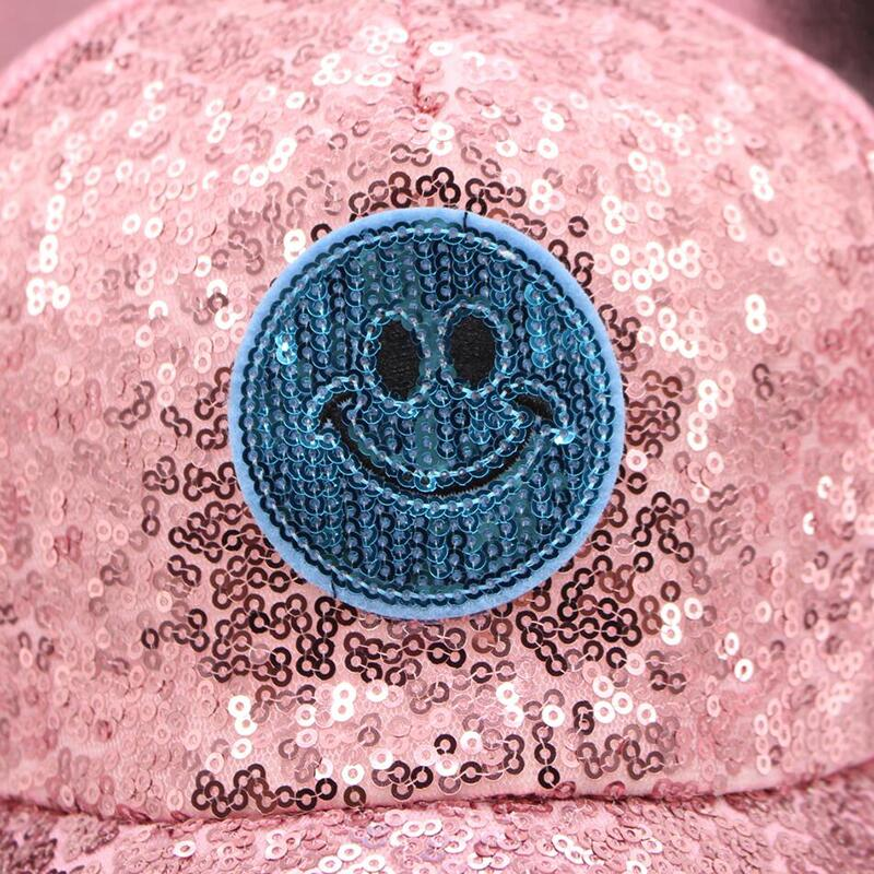 Parent Child Baseball Cap With Fashion Smiling Summer Cap Caps Hip Hop Hat Boys Grils Cap Golf Bone Hat With Paillette Snapback in Men 39 s Baseball Caps from Apparel Accessories