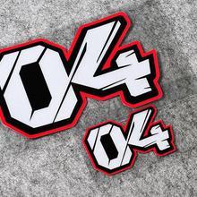 Светоотражающая наклейка для мотоспорта № 04 Andrea Dovizioso, Виниловая наклейка для автомобиля, наклейки для мотокросса, мотоцикла, гоночного велосипеда