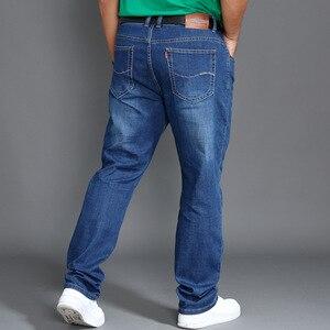 Image 5 - Klasyczne jeansy męskie wiosna długie spodnie Plus rozmiar 44 46 48 wysoka talia elastyczne lekkie letnie spodnie jeansowe Smart Casual Jean
