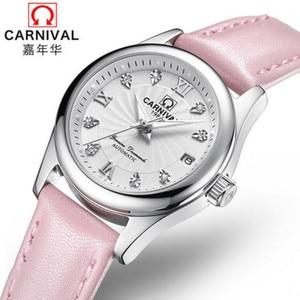 Image 2 - Carnival Women Watches top Luxury Brand ladies Automatic Mechanical Watch Women Sapphire Waterproof relogio feminino reloj mujer