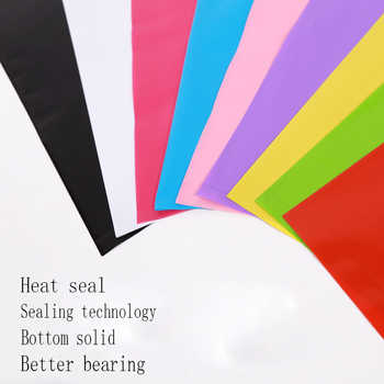 500pcs customized logo shopping handle plastic bag/gift plastic packaging for garment/clothing/gift printed LOGO promotion bag