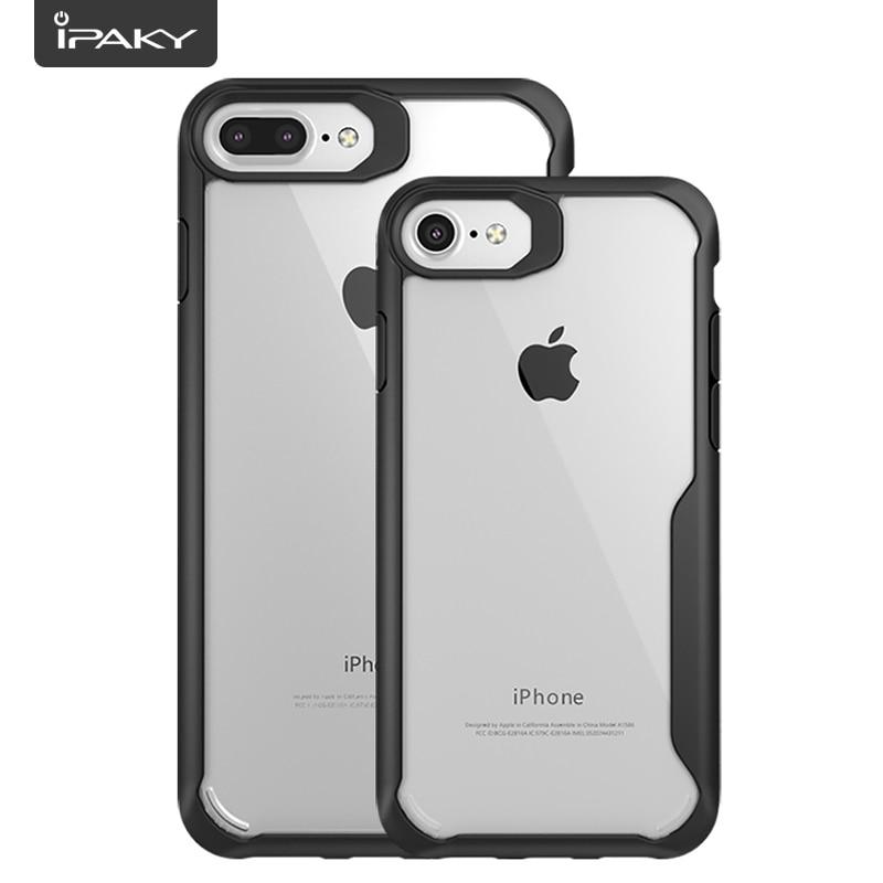 IPAKY Heavy Duty Clear Case för iPhone 7 och 7 Plus Flexibel - Reservdelar och tillbehör för mobiltelefoner - Foto 2