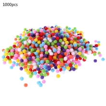 1000Pcs Soft Round Fluffy Craft PomPoms Ball Mixed Color Pom Poms 10mm DIY