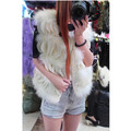 The ostrich hair The spring and autumn period and the brief paragraph chiffon stitching fur waistcoat petals vest