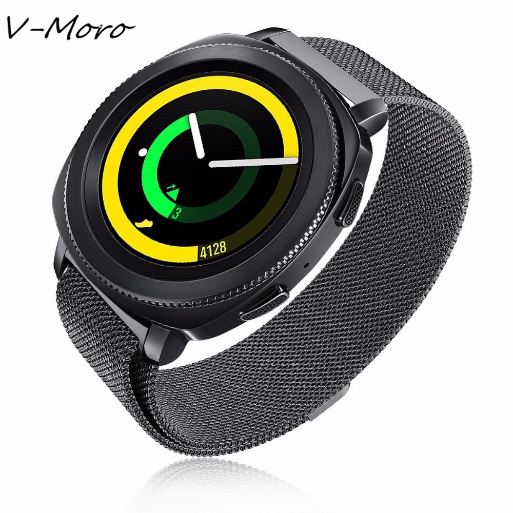V-MORO 2017 New 20mm Gear Sport Band Milanese Loop Mesh Stainless Steel Metal Bracelet Straps For Samsung Gear Sport Watch Band lord foresta umbra moro 50x50
